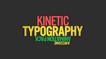 Kinetic Typography V2 Motion Graphics Template