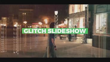Glitch Slideshow After Effects Templates