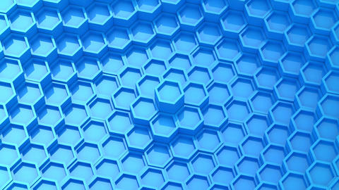 Background of Animated Hexagons CG動画素材