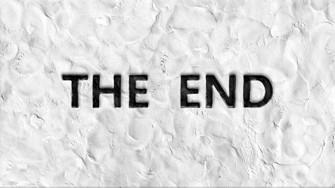 "Stop motion animation of ""the end"" words Footage"