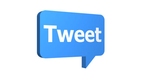 Tweet Speech Bubble Popping Up Three Angles With Alpha Animation