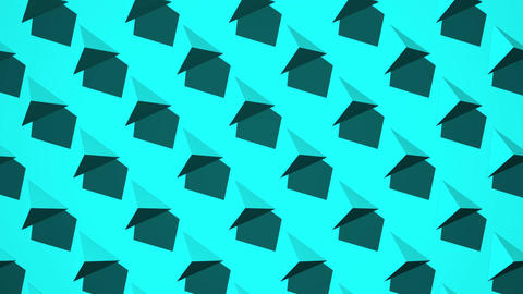 Light Blue Triangle Abstract CG動画
