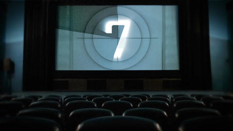 Movie countdown at cinema Footage