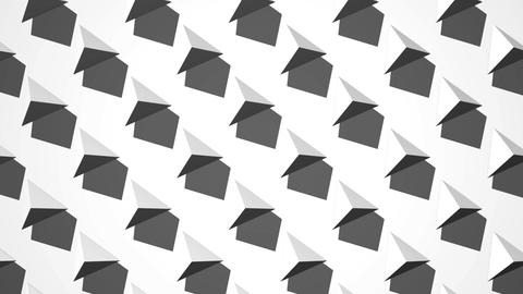 White Triangle Abstract CG動画