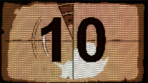 Countdown start in old computer game style Archivo