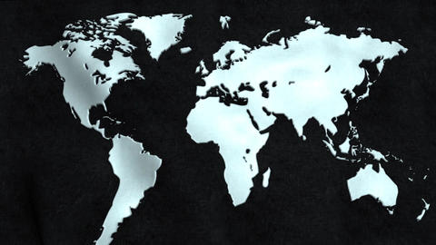 World Map Flag Animation