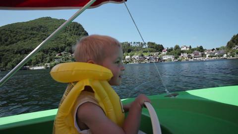 Speedboat ride around the lake Footage