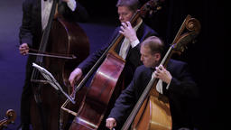 Cellists musicians play the cello in the orchestra Footage