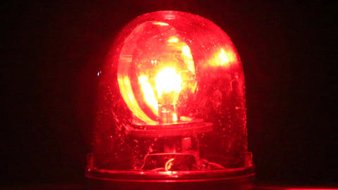 red revolving light Archivo