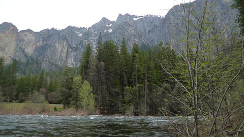 Merced River In Yosemite National Park Footage
