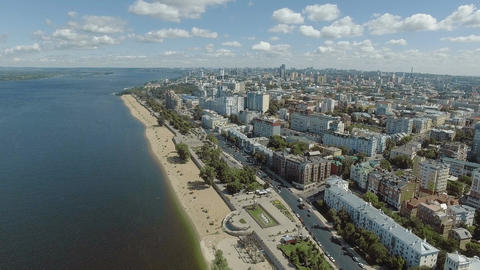 Samara city historical center Footage