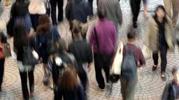 Aerial view of people walking on the street ビデオ