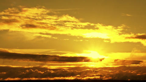 Yellow-orange fiery sunset Footage