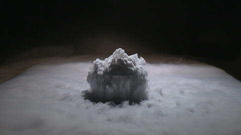 Dry ice boiling Footage