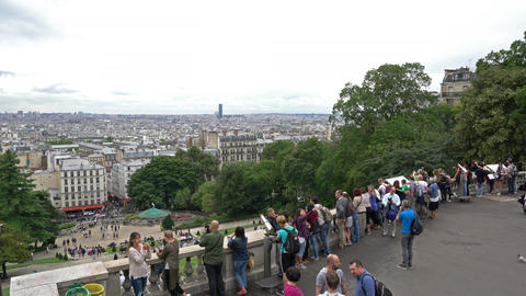 View of the city from Montmartre in Paris Image