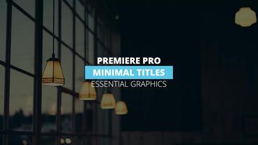 Minimal Titles モーショングラフィックステンプレート