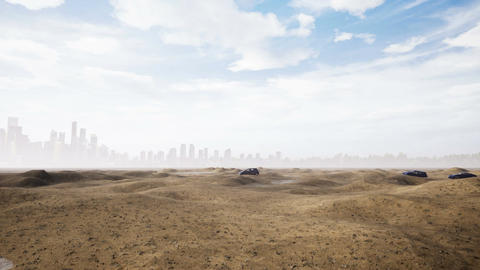 Car In Desert CG動画素材