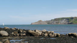 Runswick bay rocky beach 画像