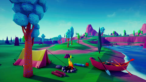 Lowpoly Land Animation