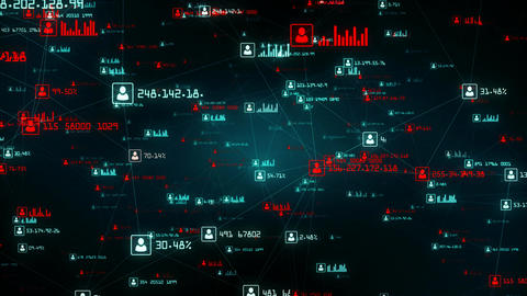 Global network connections. Connecting data and people with the internet. 4K Animation