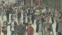 Crowd. The city street is crowded with people Footage