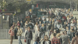 Street crowded with people. Crowd of people Footage