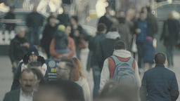 Crowd of people. Many people walk down the street. Crowded street Footage