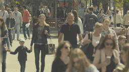 Crowded street. People in the crowd. Crowd. 4K Stock Video Footage