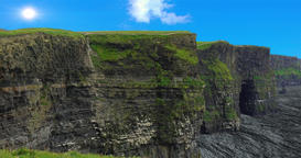 A 4k HDR close up view of the world famous Cliffs of Moher in County Clare, Irel Footage