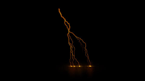 Orange Traveling Lightning Animation Motion Graphic Element Animation