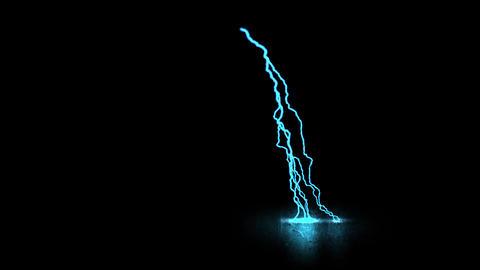 Blue Traveling Lightning Animation Motion Graphic Element Animation