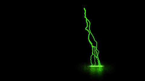 Green Traveling Lightning Animation Motion Graphic Element Animation
