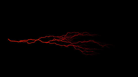 Red Horizontal Lightning Animation Motion Graphic Element Animation