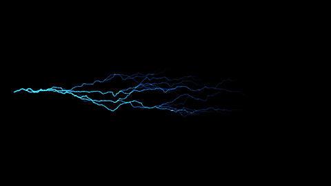 Blue Horizontal Lightning Animation Motion Graphic Element Animation