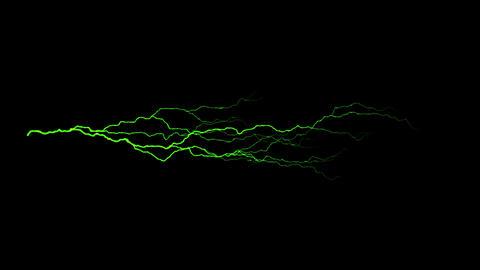 Green Horizontal Lightning Animation Motion Graphic Element Animation