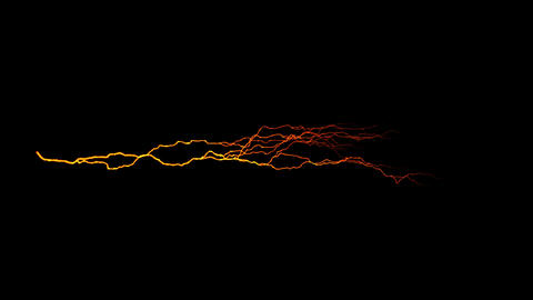 Orange Horizontal Lightning Animation Motion Graphic Element Animation