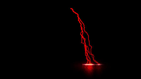 Red Traveling Lightning Animation Motion Graphic Element Animation