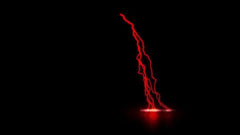 Red Traveling Lightning Animation Motion Graphic Element Animation