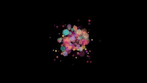 Pastel Hexagons and Particles Bokeh Image