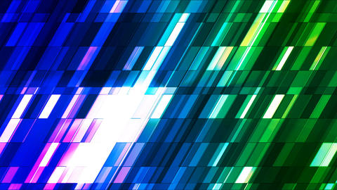 Broadcast Twinkling Slant Hi-Tech Small Bars, Multi Color, Abstract, Loopable, 4K Animation