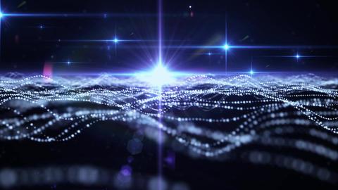 Particle Light 005 Blue Animación
