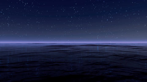 Starry Sky At Sea 4K Animation