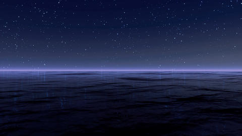 Starry Sky At Sea 4K Stock Video Footage