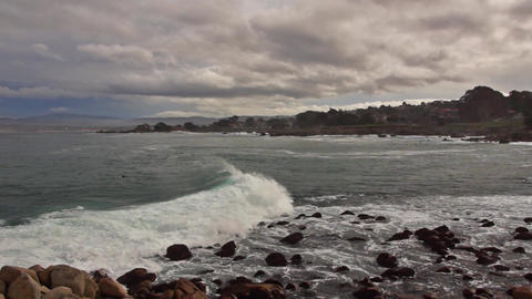 Monterey coastline Footage