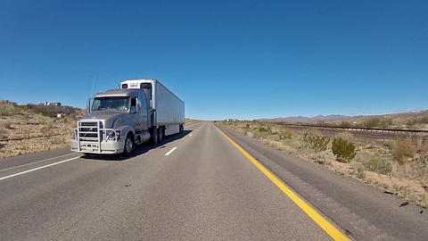 Truck in motion Footage