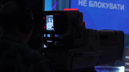 The camera works in the Studio during the broadcast Footage