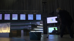 Preparation of the TV Studio before the show Footage