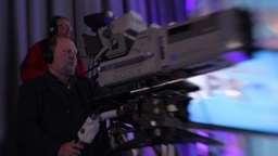 Cameraman in TV Studio Footage