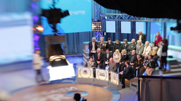 Big TV Studio during the broadcast Footage