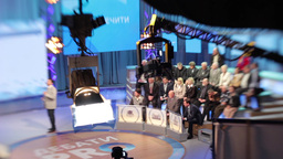 TV Studio with spectators during the broadcast Footage